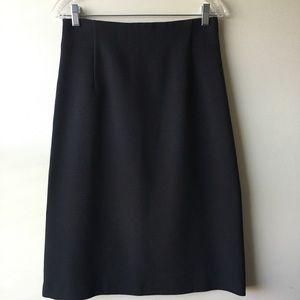 ANN TAYLOR LOFT High Waist Midi Pencil Skirt 6